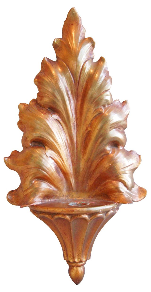 1950s Gilt Candle Sconce