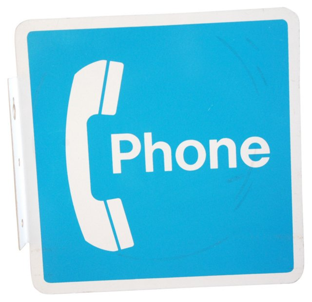 1970s Phone Sign