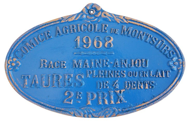 French Trophy Plaque, 1968