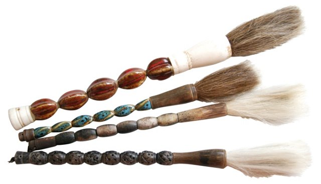 Calligraphy   Horsehair Brushes, S/4