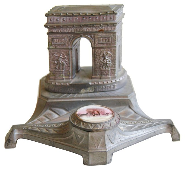 1930s French Arc de Triomphe Inkwell