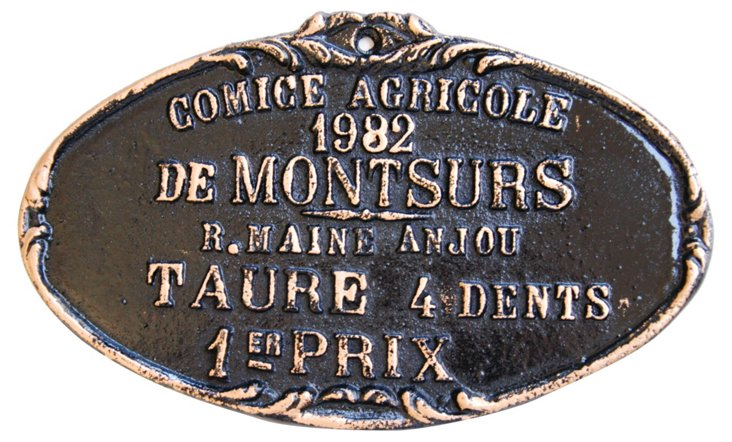 French Awards Trophy Plaque, 1982