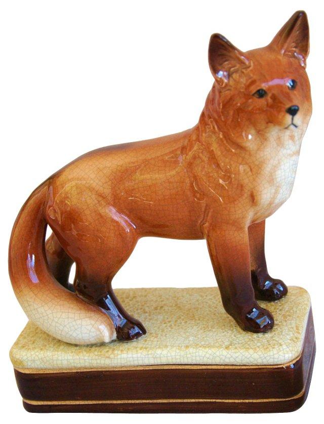 English Red Fox Figurine
