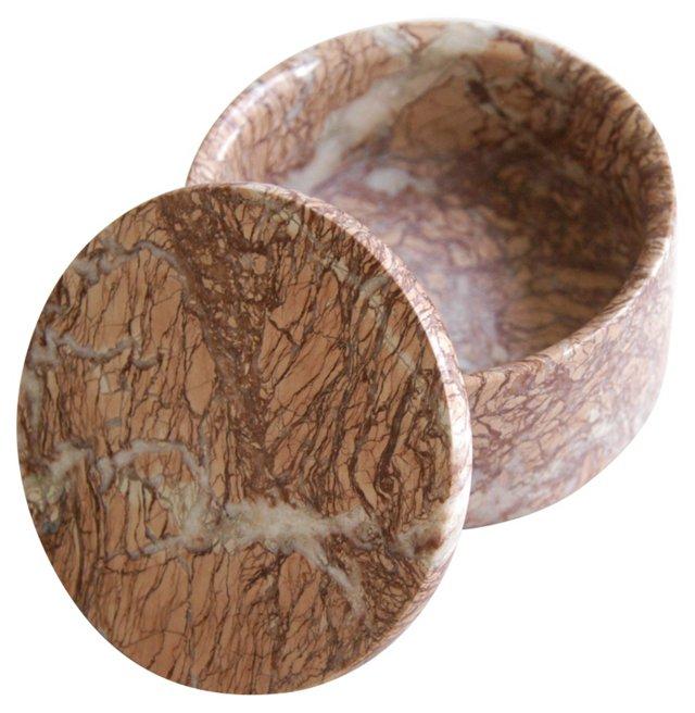 Round Italian Marble    Trinket Box