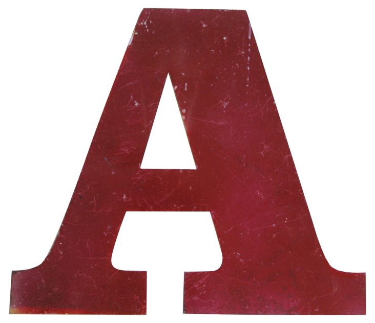 Red Metal Marquee      Letter A