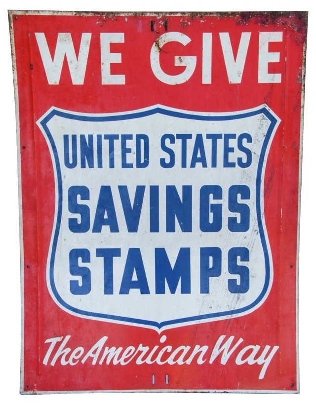 1950s The American Way Metal Sign