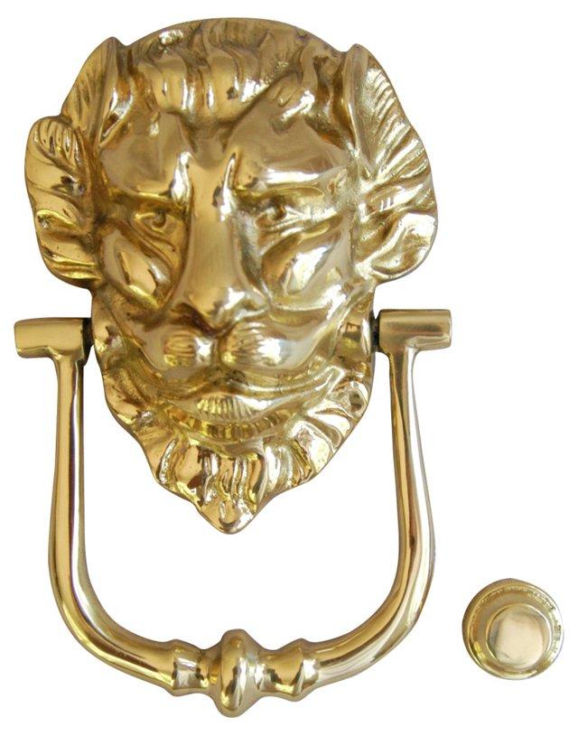 1960s      Brass Lion Door Knocker