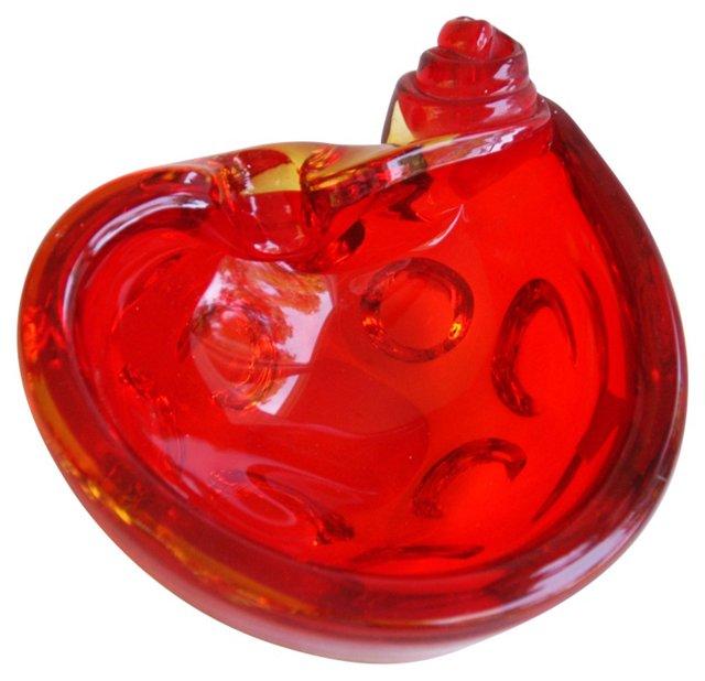Ruby Red Murano Dish