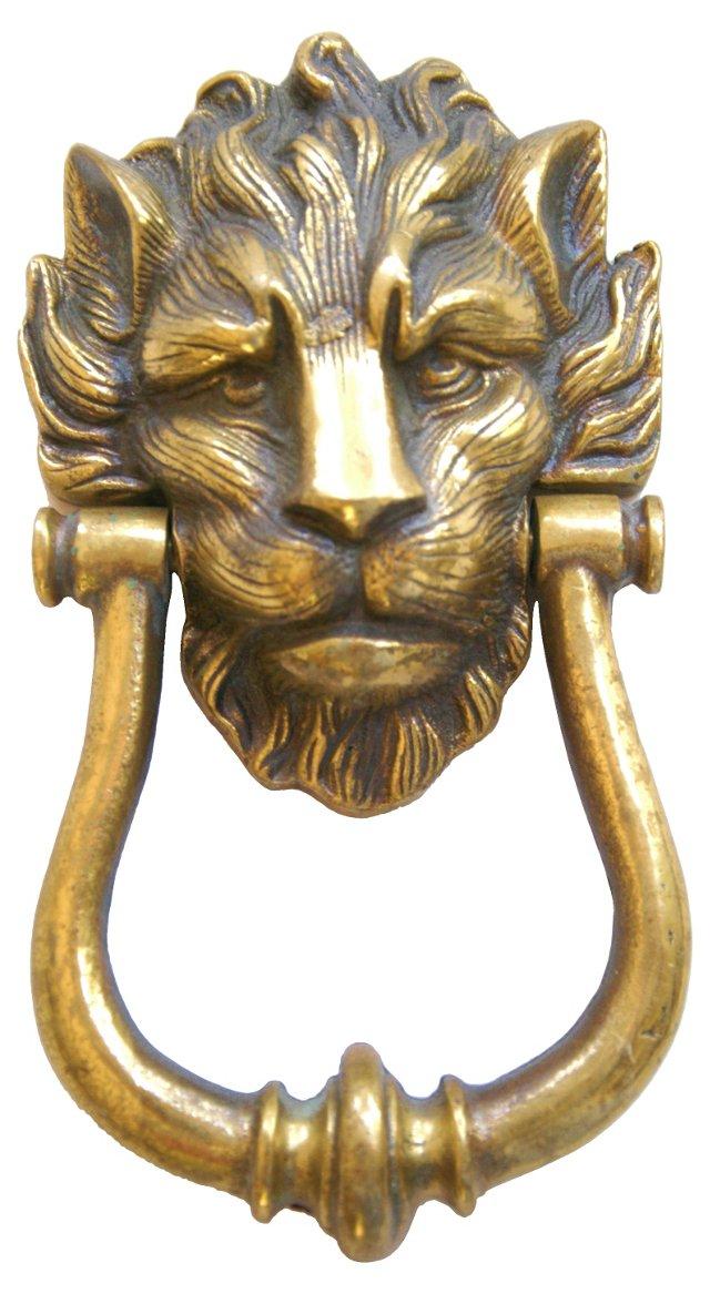 1950s Brass  Lion   Door  Knocker