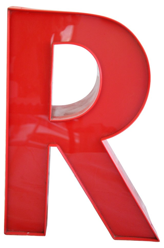 Red Marquee Storefront Letter        R
