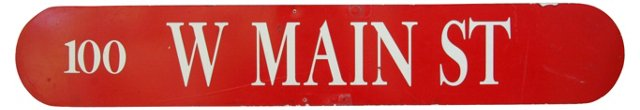 1970s Double-Sided Main Street     Sign