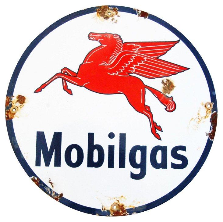 Porcelain on Metal Mobilgas Pegasus Sign