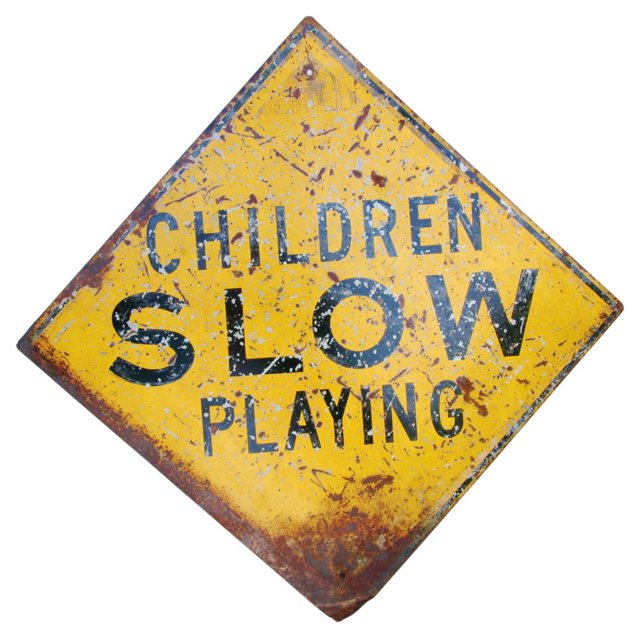 1940s Children  Playing Sign