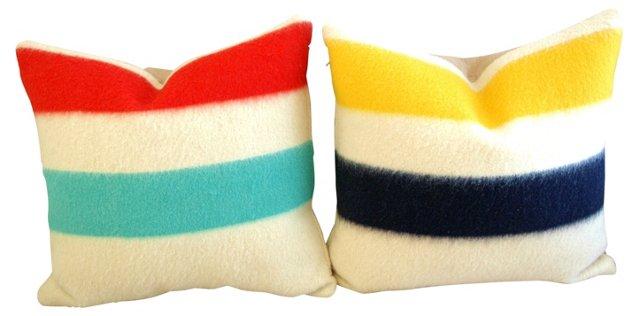 Hudson's Bay  Blanket   Pillows,    Pair