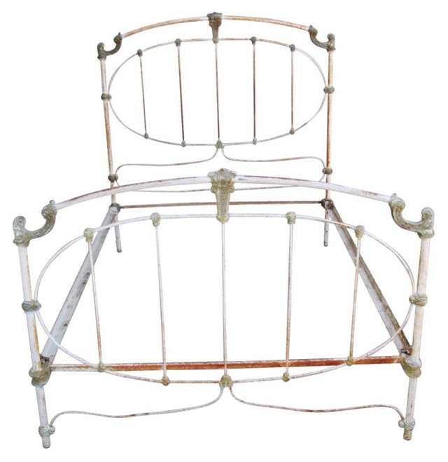 Early-20th-C. Iron Bed, Full
