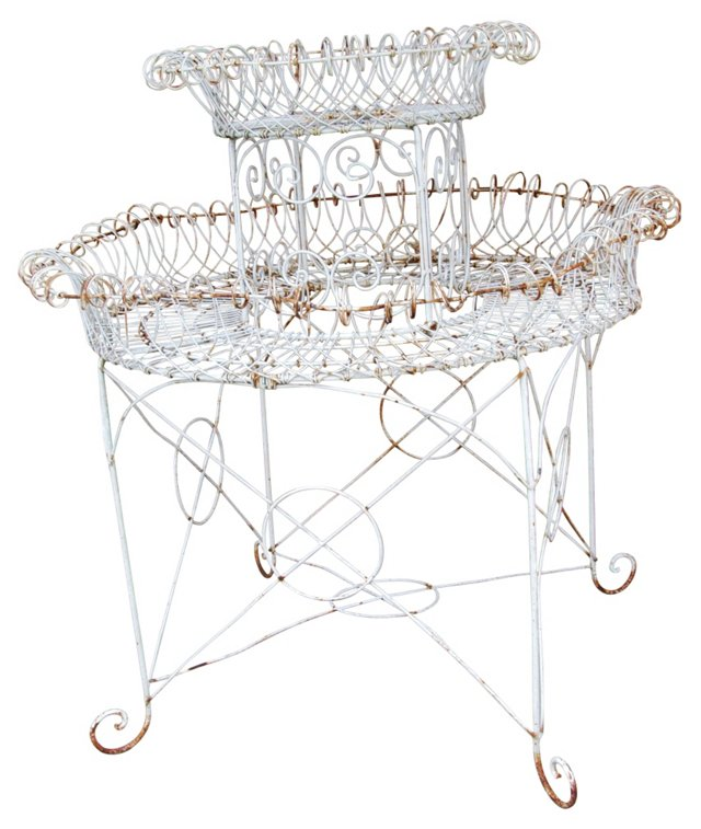 1930s French Twisted-Wire Tiered Planter