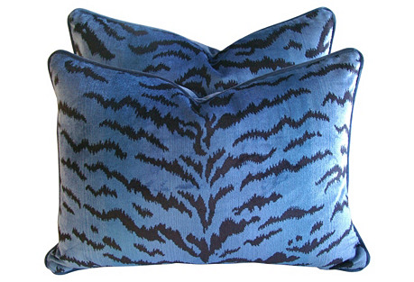 Scalamandré Le Tigre Fabric Pillows, Pr