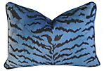 Blue/Black   Scalamandré Le Tigre Pillow