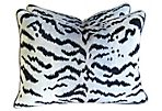 Silver Scalamandré Le Tigre Pillows, S/2