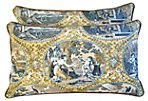 Scalamandré Cupido Toile Pillows, Pair