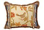 Silk & Velvet English Textile Pillow