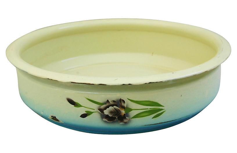 1930s French Enameled Porcelain Bowl