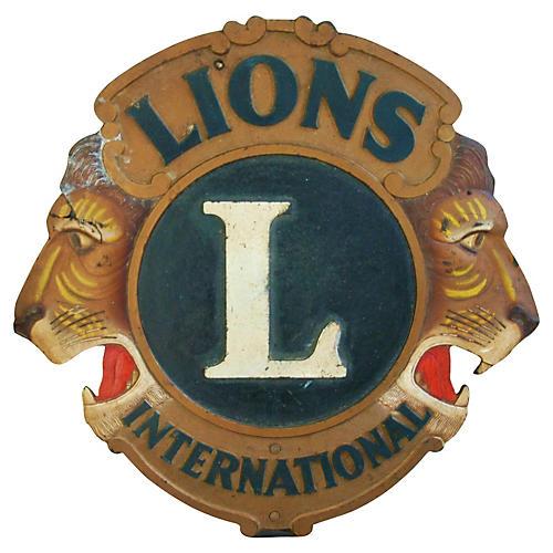1940s Lions International Plaque/Sign