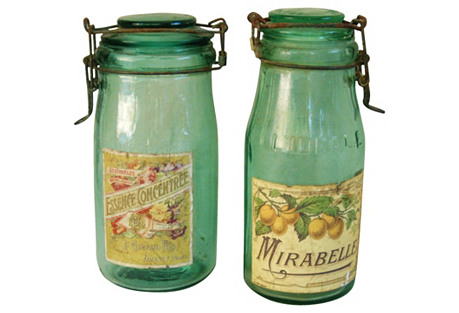 French Fruit Preserve & Canning Jars, Pr