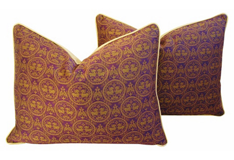 Pierre Frey Royal Medallion Pillows, Pr