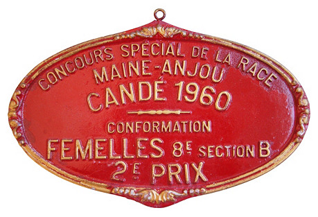 French Trophy Plaque, 1960