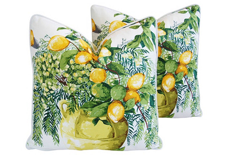 Manuel Canovas Tosca Pillows, Pair
