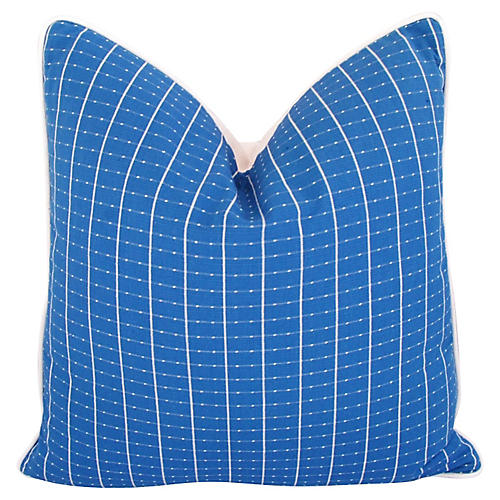 Coastal Blue/White Nautical Pillow