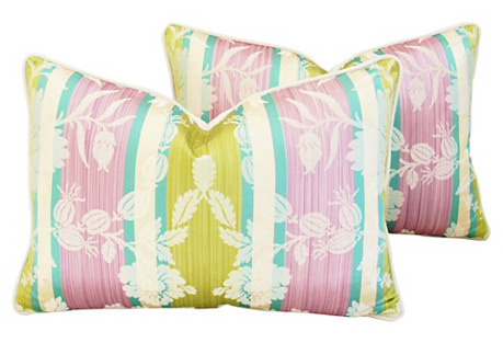Clarence House Anjou Fabric Pillows Pair