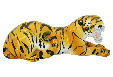 1960s Italian Rosenthal Netter Tiger