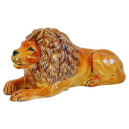 Midcentury Italian Terracotta Lion