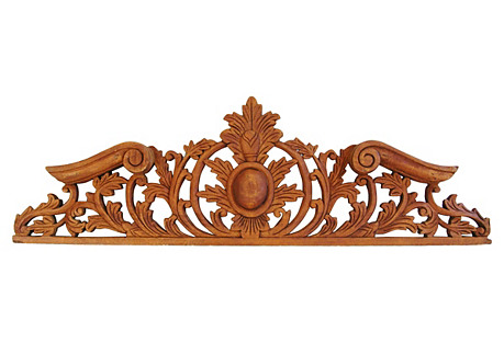 Architectural Carved Wood Pediment