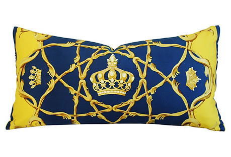Hermès Crowns Couronnes Silk Pillow