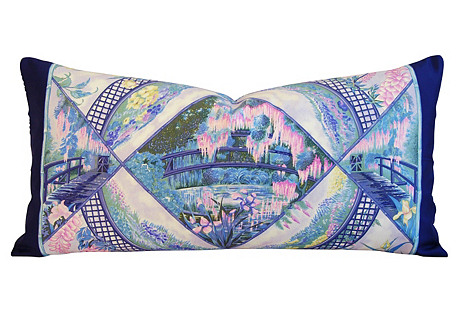 Hermès Giverny Garden Monet Silk Pillow