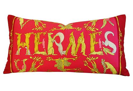 Hermès Annie Faivre Alphabet III Pillow