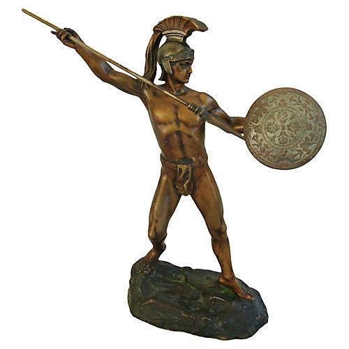 Bronze Greek Warrior by H. Eichberg