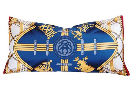 Hermès Henri d'Origny Silk Lumbar Pillow