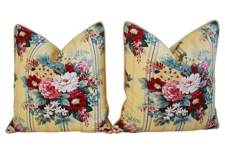 Ralph Lauren Floral Bouquet Pillows, Pr