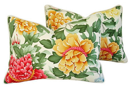 Brunschwig Fils Lahore Peony Pillows, Pr