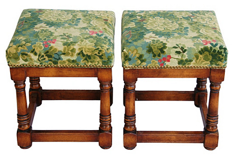 Italian Scalamandré Marly Benches, Pair