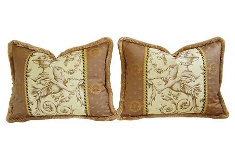 Italian Old World Pillows, Pair