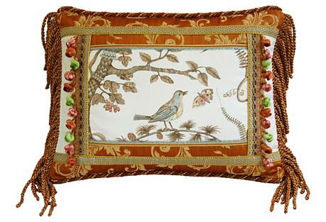 Brunschwig & Fils Bird & Thistle Pillow