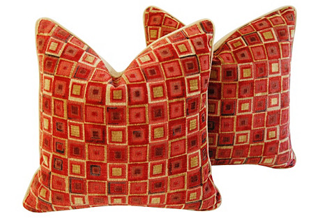 Cowtan & Tout Velvet Pillows, Pr