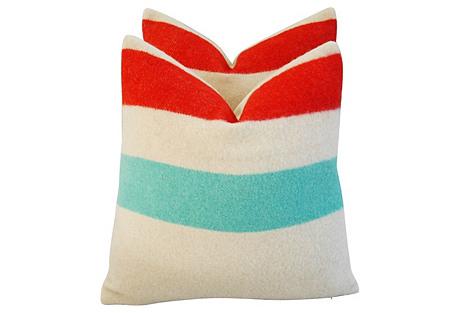 Hudson's Bay Camp Blanket Pillows, Pair