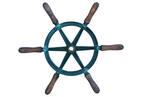 Bronze Nautical Boat Ship's Wheel