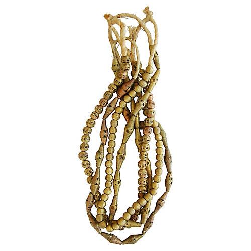 Brass & Copper Bead Strands, S/4
